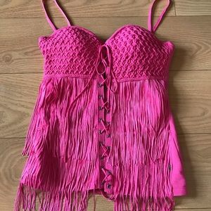 ZOOMP hot pink top